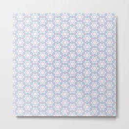 Delicate Flowers Pattern Metal Print