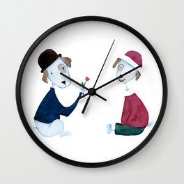 Cute Dogs - PAINTED Wall Clock