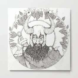 The Viking Metal Print