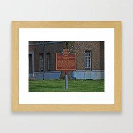 Old West End First Congregational Church Historical Marker Framed Art Print
