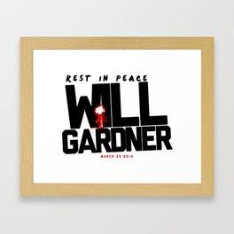 The Good Wife: R.I.P Will Gardner Framed Art Print