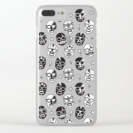 Máscaras (Black & White) Clear iPhone Case