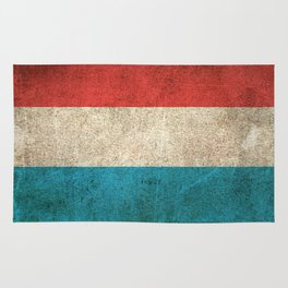 Old and Worn Distressed Vintage Flag of Luxembourg Rug