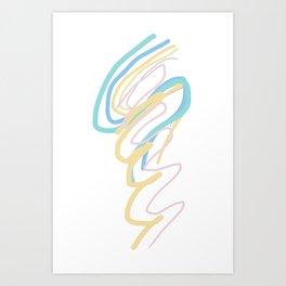 Doodle Writing Thinking Art Print