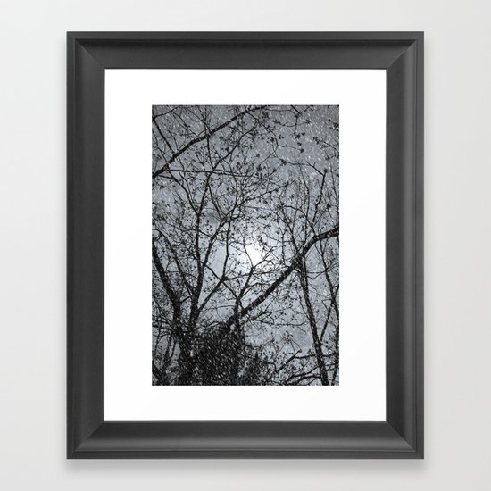 Oh Snowy Night Framed Art Print