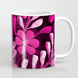 Hot Pink Mexican Flowers Coffee Mug