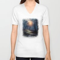neverland V-neck T-shirts featuring From small beginnings and big endings. by Viviana Gonzalez