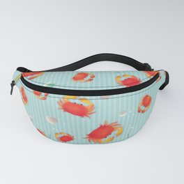 Red Crabs & Sea Shells Fanny Pack