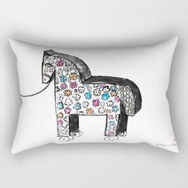 Wooden horse Rectangular Pillow