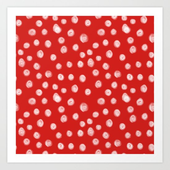 Basic red and white dots love valentines day minimal polka dot pattern by charlottewinter