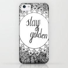 Stay Golden iPhone 5c Slim Case