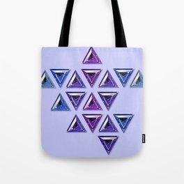 Cool Tones Gradient Trillion Pattern Tote Bag