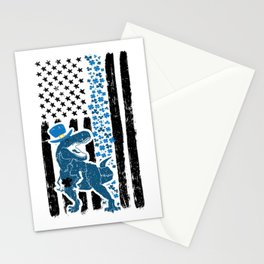 Thin Blue Line Dinosaur St Patricks Police Stationery Cards