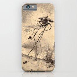 Vintage War of the Worlds Battle Illustration iPhone Case