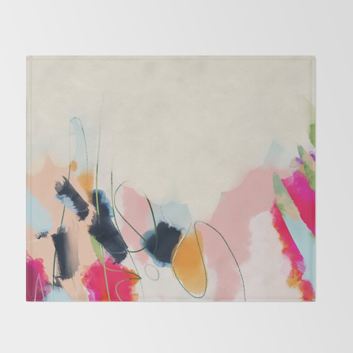 abstract art Throw Blanket