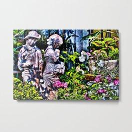 Garden Sculpture Metal Print