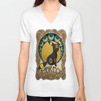 umbreon V-neck T-shirts featuring Umbreon by Yamilett Pimentel