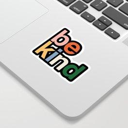 be kind colors rainbow Sticker
