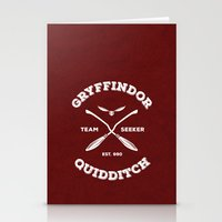 quidditch Stationery Cards featuring Gryffindor Quidditch by Sharayah Mitchell