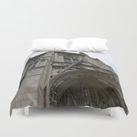 pittsburgh Duvet Covers featuring Pittsburgh Tour Series - University of Pittsburgh by Sarah Shanely Photography