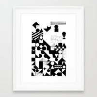 grid Framed Art Prints featuring GRID by Matt Scobey