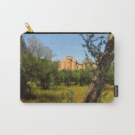 Italy, olive trees and an ancient abbey Carry-All Pouch