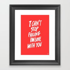 Failing Framed Art Print