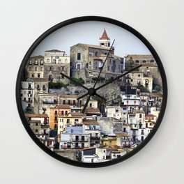 Urban Landscape - Cathedral - Sicily - Italy Wall Clock