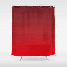 Glowing Garnet Gradient Shower Curtain