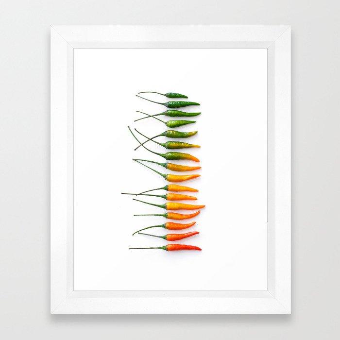 Hot Pepper Gradient Framed Art Print