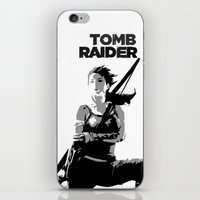 tomb raider iPhone & iPod Skins featuring Tomb Raider by Krbshadow
