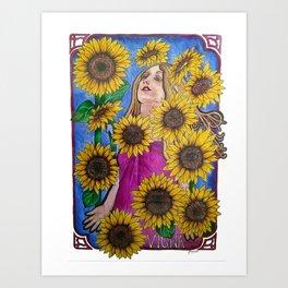 Sunflower self Art Print