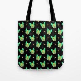 boston terrier - blk pattern Tote Bag