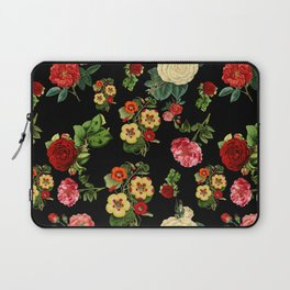 Black and red Vintage roses Laptop Sleeve