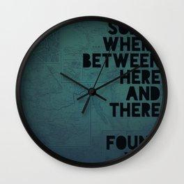 Here & There II Wall Clock