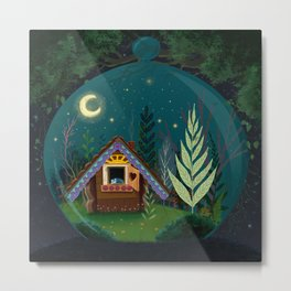 The Home Of Secret Forest Magic Metal Print