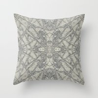 snowflake Throw Pillows featuring Snowflake  by Project M