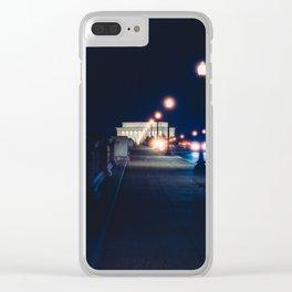 Memorial Bridge To Lincoln Memorial Clear iPhone Case