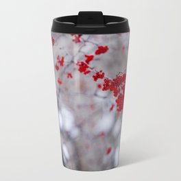 Winter's Red Travel Mug