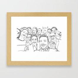 Oscar Selfie Framed Art Print