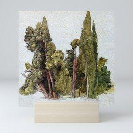 Samuel Palmer Cypresses in Tivoli Mini Art Print