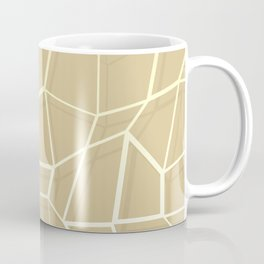 Floating Shapes Gold - Mid-Century Minimalist Graphic Coffee Mug