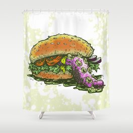 Octoburger Shower Curtain