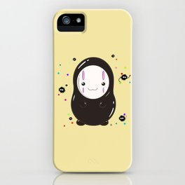 Spirited Away No Face Kawaii With Soot Sprites iPhone Case