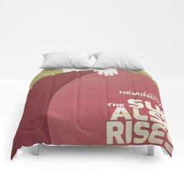 The sun also rises, Fiesta, Ernest Hemingway, classic book cover Comforters