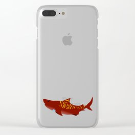 Tony Shark Clear iPhone Case