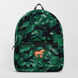 Orange horse in the bush Backpack
