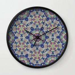 Chakra Flowers Wall Clock