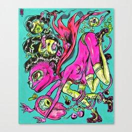Inky Canvas Print