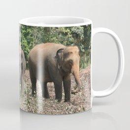 Sri Lanka Elephants in Jungle Landscape Coffee Mug